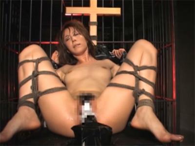 【ひとずまAV女優動画】「高坂保奈美」を緊縛し椅子に拘束しおまんこにバイブを突っ込んで放置プレイw