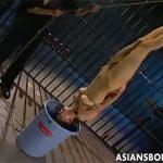 【ひとずまSM動画】蝋燭責めや針責めや逆さ吊りの水責めで三十路熟女を服従させるキチガイ男w