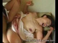【ひとずまセックス動画】六十路越えの熟れた熟女!垂れた巨乳を揉みしだかれながらガバガバマンコを激しく突かれる!閉経したマンコに精子を流し込まれるとうっとりした表情で悶絶…